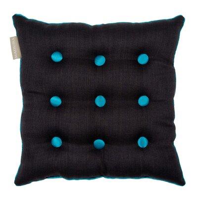 Lina Throw Pillow Color: Dark Gray/Teal