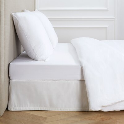 Dream Satin 100% Cotton Fitted Sheet Color: White