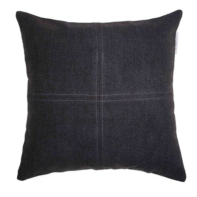 Alpina Pillow Cover Color: Gray/Black, Size: 23.4 H x 23.62 W x 0.39 D