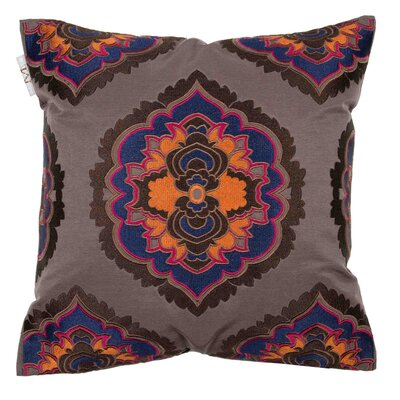Bali Pillow Cover Color: Oranged Blue