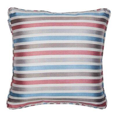 Berlingot Pillow Cover Color: Red/Blue Stripes