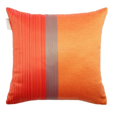 Atina Pillow Cover Size: 15.75 H x 15.75 W x 0.39 D, Color: Gold