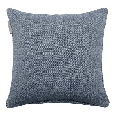 Chambray Pillow Cover Color: Blue, Size: 15.6 H x 15.75 W x 0.39 D