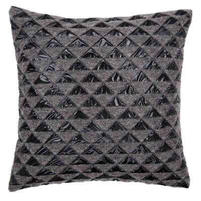 Diagram Pillow Cover Color: Gray/Black