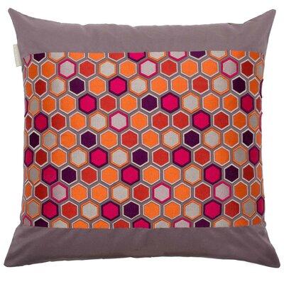 Honey Pillow Cover Color: Orange/Multi