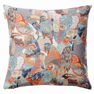 Jungle Birds Pillow Cover Color: Orange