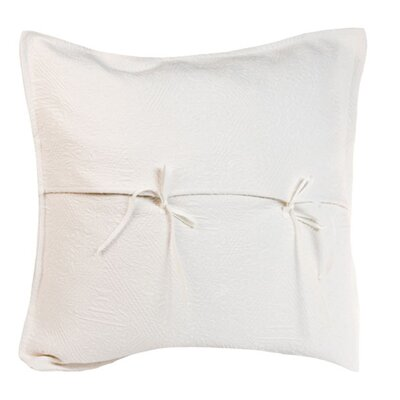Fanny Pillow Cover Color: Off White, Size: 24.41 H x 24.41 W x 0.39 D