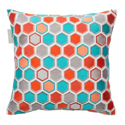 Honey Pillow Cover Color: Blue/Orange
