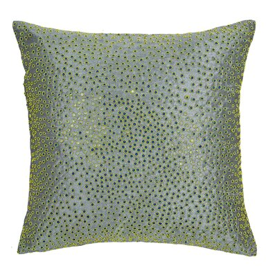 Galuxa Pillow Cover Color: Light Green/Gray
