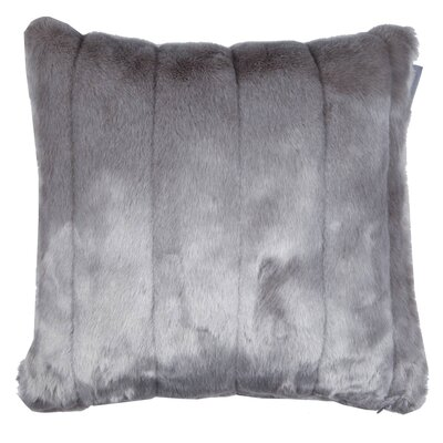 Nebraska Pillow Cover Color: Pale Gray, Size: 23.4 H x 23.62 W x 0.39 D