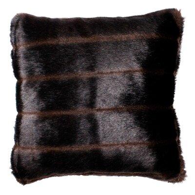 Nebraska Pillow Cover Size: 23.4 H x 23.62 W x 0.39 D, Color: Brown