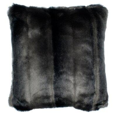 Nebraska Pillow Cover Size: 23.4 H x 23.62 W x 0.39 D, Color: Dark Gray