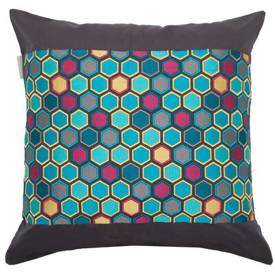 Honey Pillow Cover Color: Blue/Red