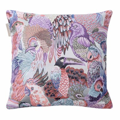 Jungle Birds Pillow Cover Color: Mauve