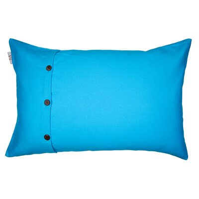 Pampa Pillow Cover Size: 17.72 H x 27.3 W x 0.39 D, Color: Blue