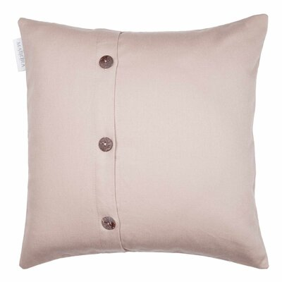 Pampa Cotton Pillow Cover Color: Very Light Beige, Size: 15.7 x 15.7