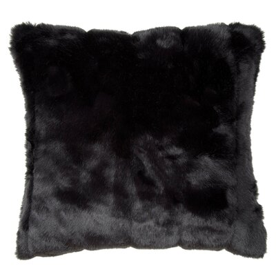 Nebraska Pillow Cover Size: 23.4 H x 23.62 W x 0.39 D, Color: Black