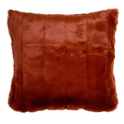 Nebraska Pillow Cover Size: 15.6 H x 15.75 W x 0.39 D, Color: Orange Brick