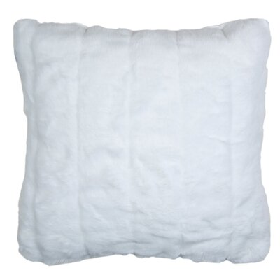 Nebraska Pillow Cover Color: White, Size: 23.4 H x 23.62 W x 0.39 D