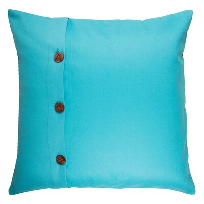 Pampa Cotton Pillow Cover Color: Blue, Size: 15.7 x 15.7