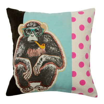 Wise Monkey Pillow Cover