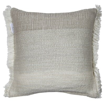 Tribal Pillow Cover Color: Light Beige