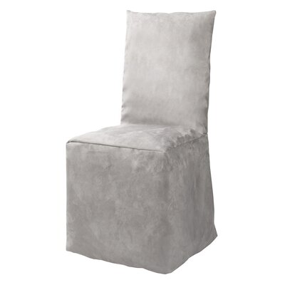 Montana Pleated Chair Slipcover Color: Pale Gray