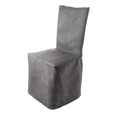 Montana Pleated Chair Slipcover Color: Dark Gray
