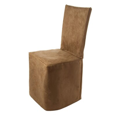 Montana Pleated Chair Slipcover Color: Light Brown