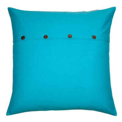Pampa Cotton Pillow Cover Color: Blue, Size: 23.6 x 23.6