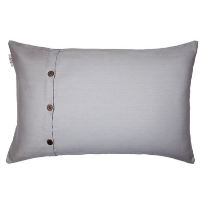 Pampa Pillow Cover Color: Gray, Size: 11.02 H x 18.33 W x 0.39 D