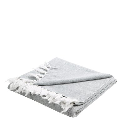 Chambray Cotton Throw Color: Gray