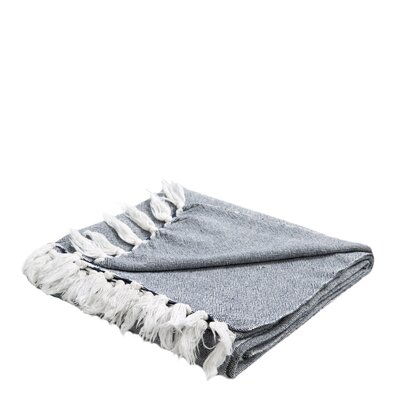 Chambray Cotton Throw Color: Blue