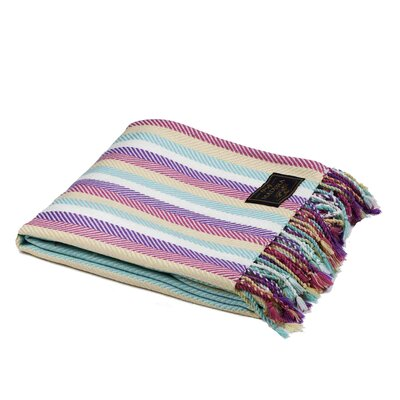 Buckingham Throw Color: Blue/Purple/Pink