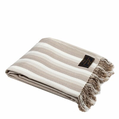 Buckingham Throw Color: Light Beige