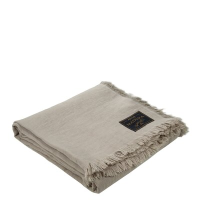 Lavandes Linen Throw Color: Light Beige