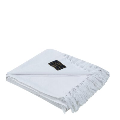 Amish Cotton Throw Color: White