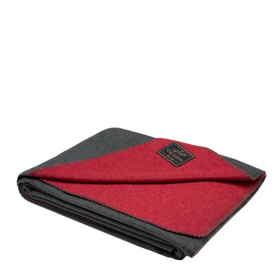 Cocoon Throw Color: Red/Gray
