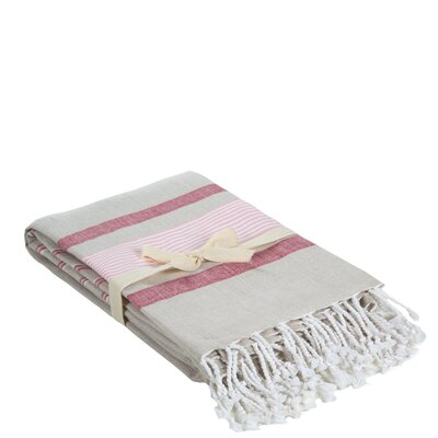Cotton Throw Color: Deep Pink