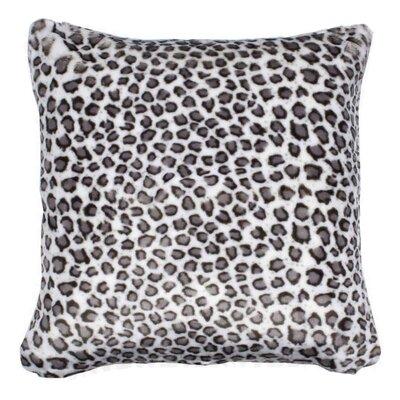 Snow Leopard Pillow Cover Size: 23.6 H x 23.6 W x 0.39 D
