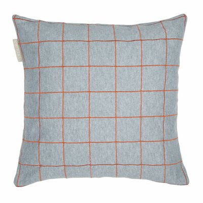 Workbook Pillow Cover Color: Orange/Gray
