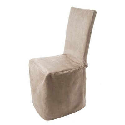 Montana Pleated Chair Slipcover Color: Off White