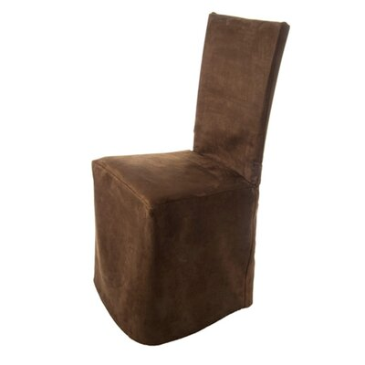 Montana Pleated Chair Slipcover Color: Brown