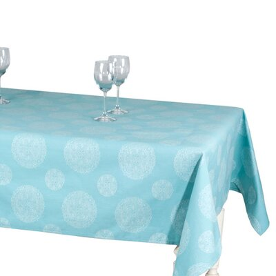 Telma Cotton Throw Color: Teal, Size: 112.32 L x 70.87 W