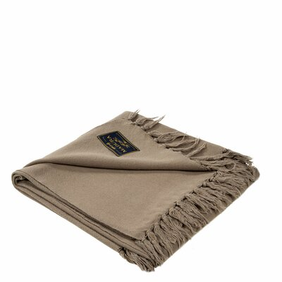 Amish Cotton Throw Color: Taupe
