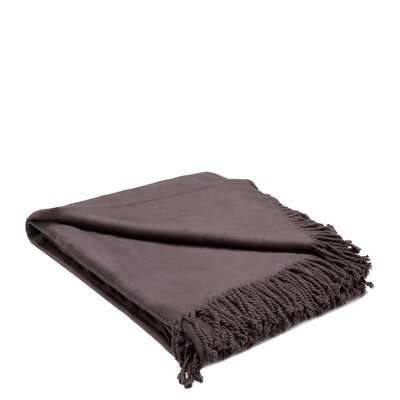 Rayon from Bamboo Throw Color: Mid-Brown