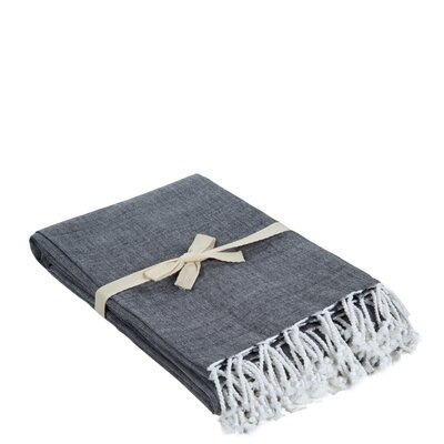 Campana Cotton Throw Color: Anthracite