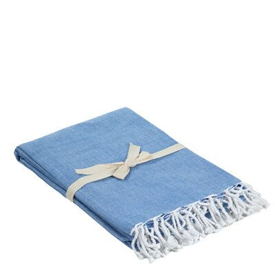 Campana Cotton Throw Color: Denim