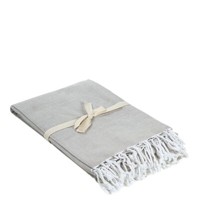 Campana Cotton Throw Color: Pale Gray