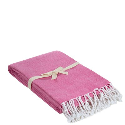 Campana Cotton Throw Color: Deep Pink